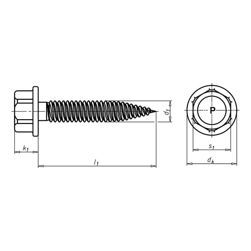 Dünnblechschraube mit Sechskantkopf DBS - 2