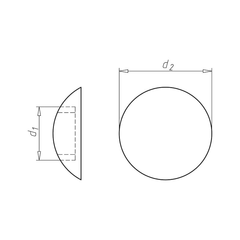 Cache-vis en plastique avec lèvre d'étanchéité pour vis à tête cylindrique bombée - 2