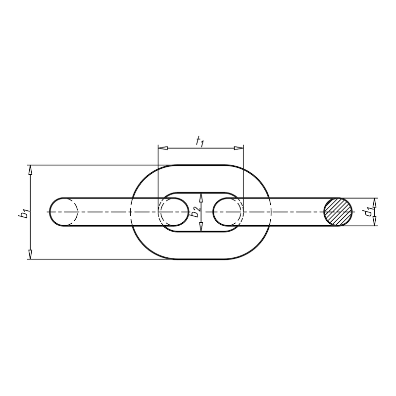 Rundstahlkette kurzgliedrig - KETT-DIN5685A-KURZ-A4-D2