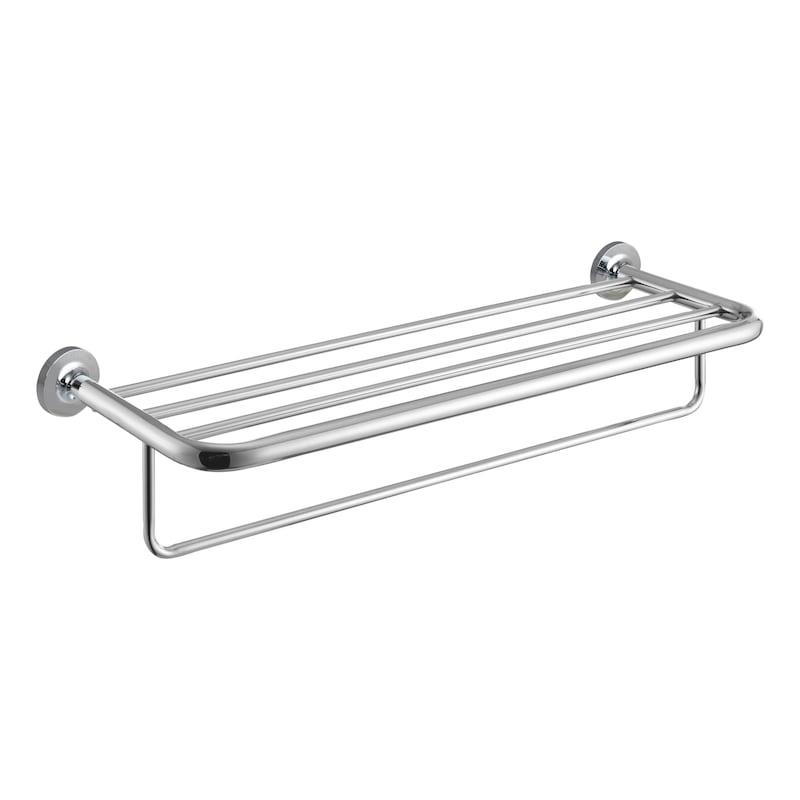 Tablette de rangement avec barre porte-serviette GIRONA - 1
