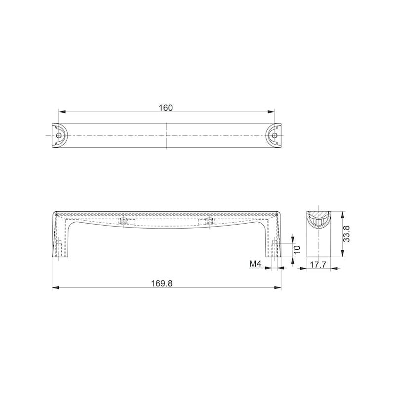 Design-Möbelgriff Bügelform MG-ZD 27 - 2
