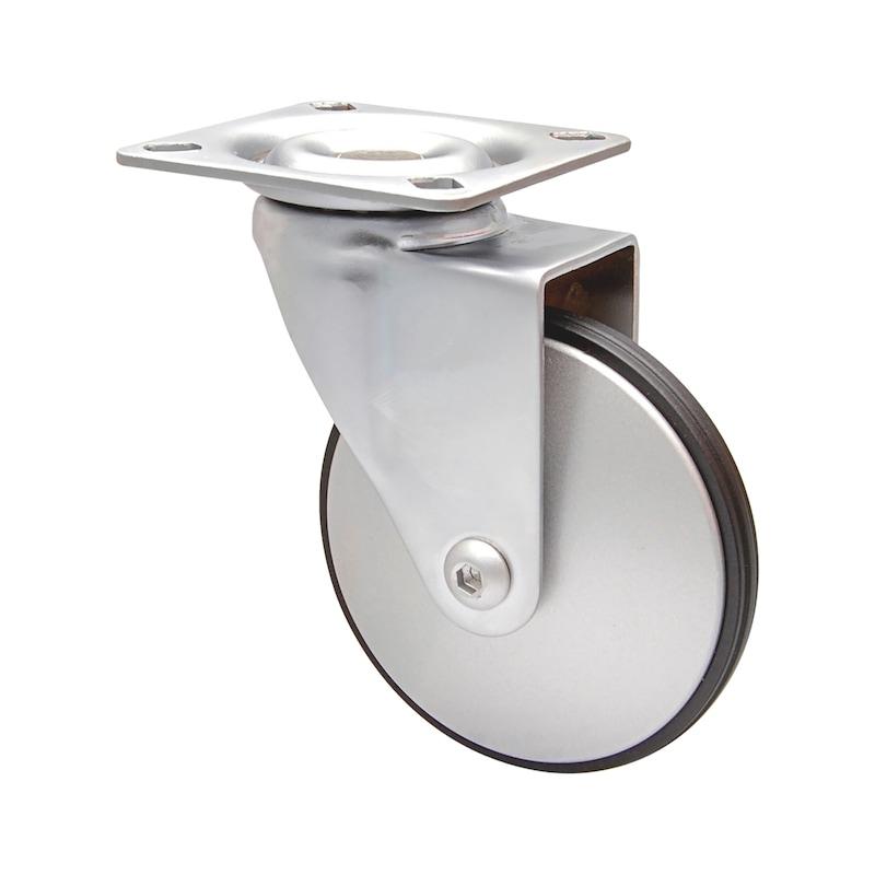 Apparate-Lenkrolle weich ALU