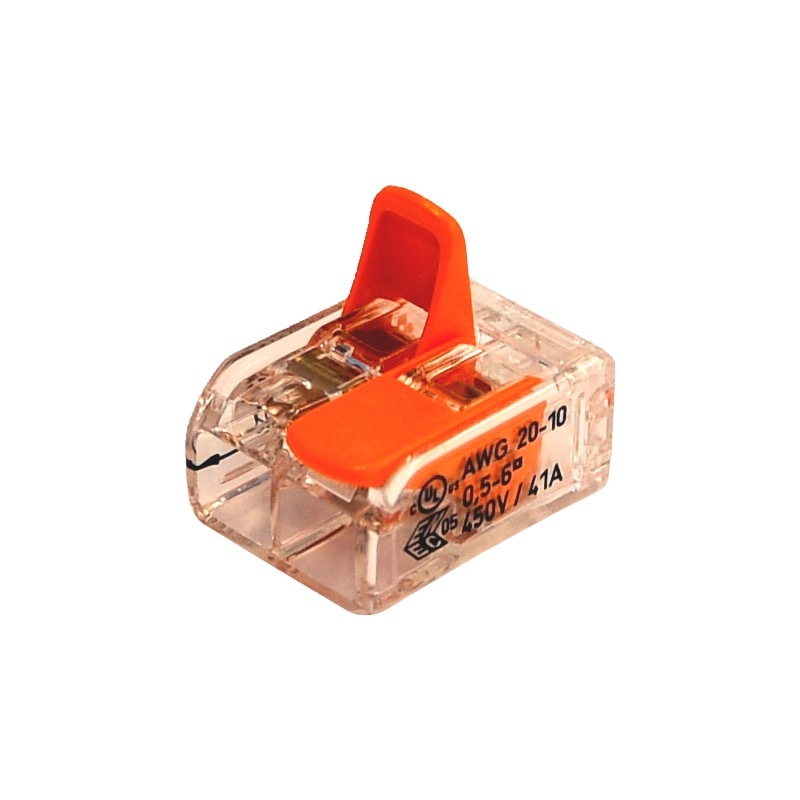 Schraublose Verbindungsklemme WAGO COMPACT - STEVERB-KLEMME-HEBEL-2LEITERN-6QMM