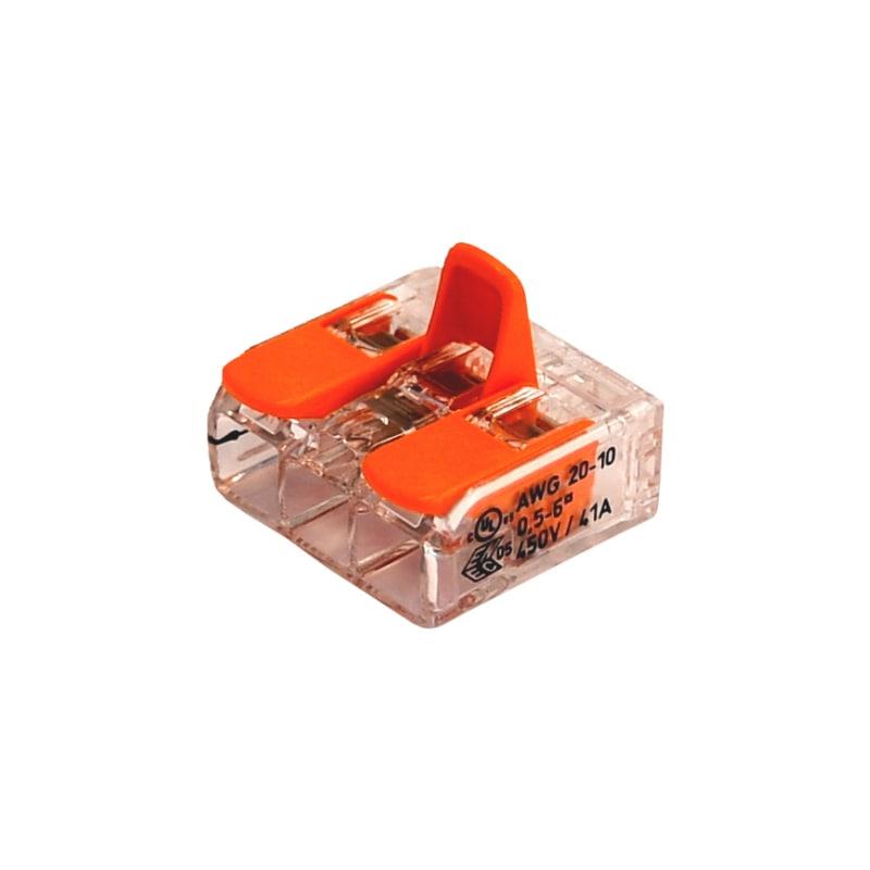 Schraublose Verbindungsklemme WAGO COMPACT - STEVERB-KLEMME-HEBEL-3LEITERN-6QMM