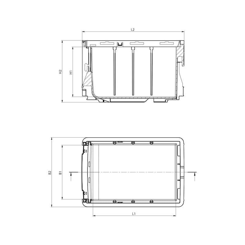 System-Lagerbox mit Koppelfunktion W-SLB - 2