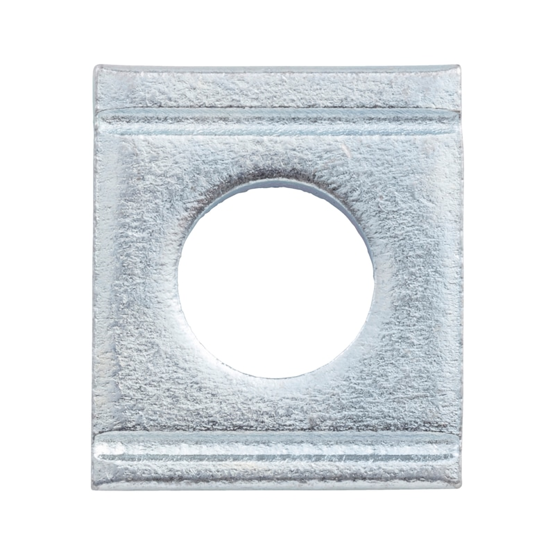 Washer, square, wedge-shaped for U sections - 1