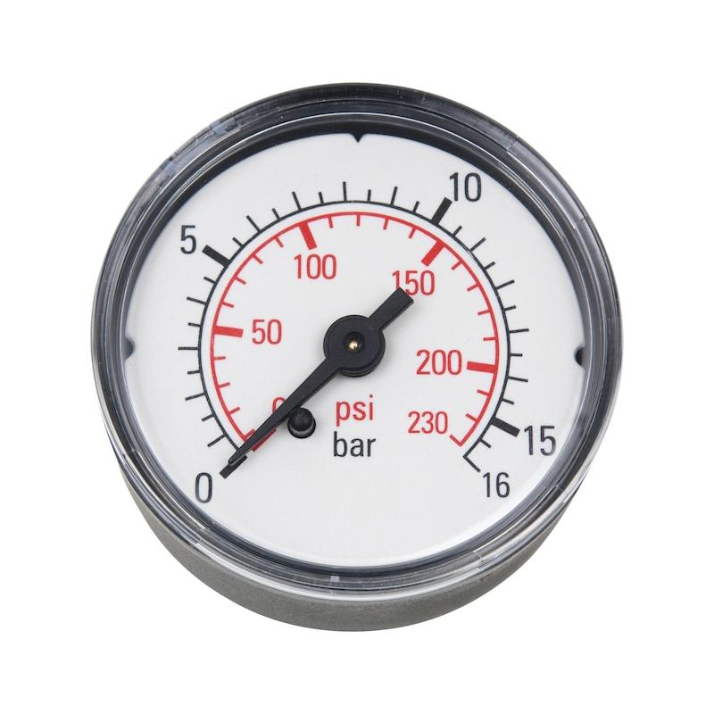 Manometer für Druckluft-Wartungseinheit Baugröße 2