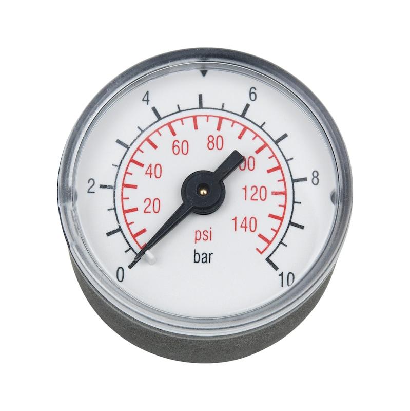 Manometer für Druckluft-Wartungseinheit Baugröße 1 - ZB-MANOMETER-WEINH-RD-BG1-10BAR-AG1/8ZO