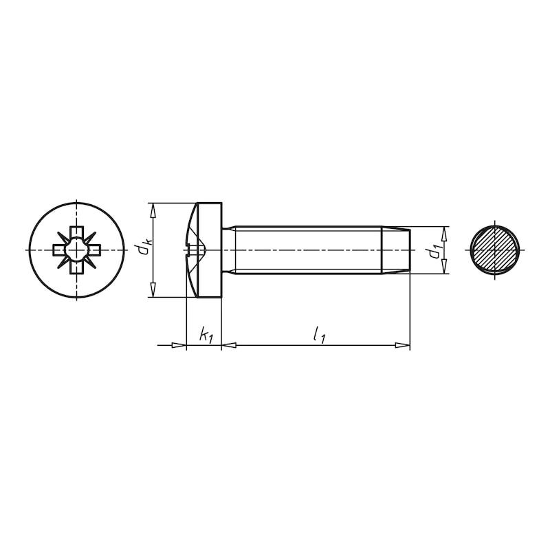 GEFU<SUP>®</SUP> Gewindefurchende Schraube mit Taptite 2000<SUP>®</SUP>-Gewinde, Flachkopf und Kreuzschlitz - 2