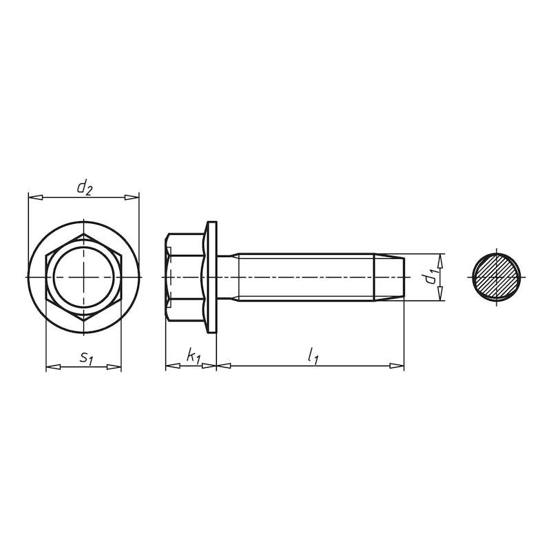 GEFU<SUP>®</SUP> Gewindefurchende Schraube mit Taptite 2000<SUP>®</SUP>-Gewinde, Sechskantkopf mit Bund - SHR-DIN7500-DE-BND-SW10-(A2K)-M6X35