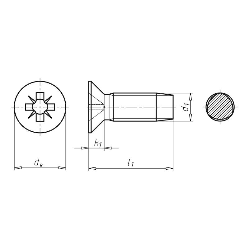 GEFU<SUP>®</SUP> Gewindefurchende Schraube mit Taptite 2000<SUP>®</SUP>-Gewinde, Senkkopf und Kreuzschlitz Form Z - SHR-SEKPF-DIN7500-Z2-(A2K)-M4,0X20