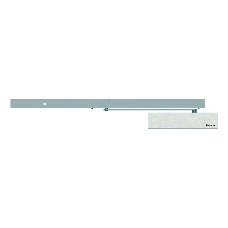 Elektromagnetische Feststellanlage einflügelig Bandgegenseite mit GTS 640 G und integriertem Rauchmelder - 1