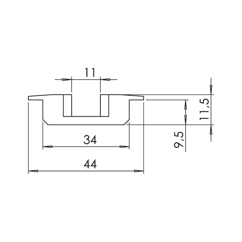 Aluminium-Airline-Zurrschiene versenkbar - 2