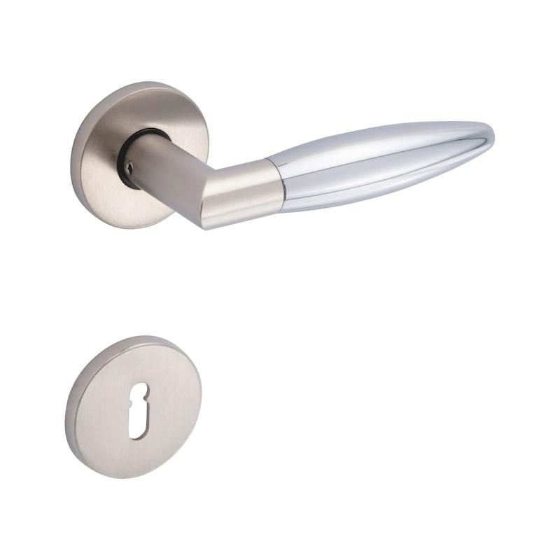 Schlüsselrosettenpaar Kantig - 3