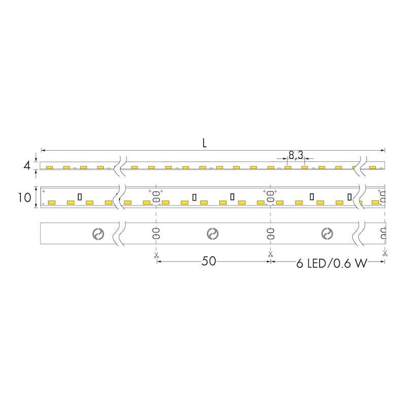 Striscia a LED 24V 12W/m - 2