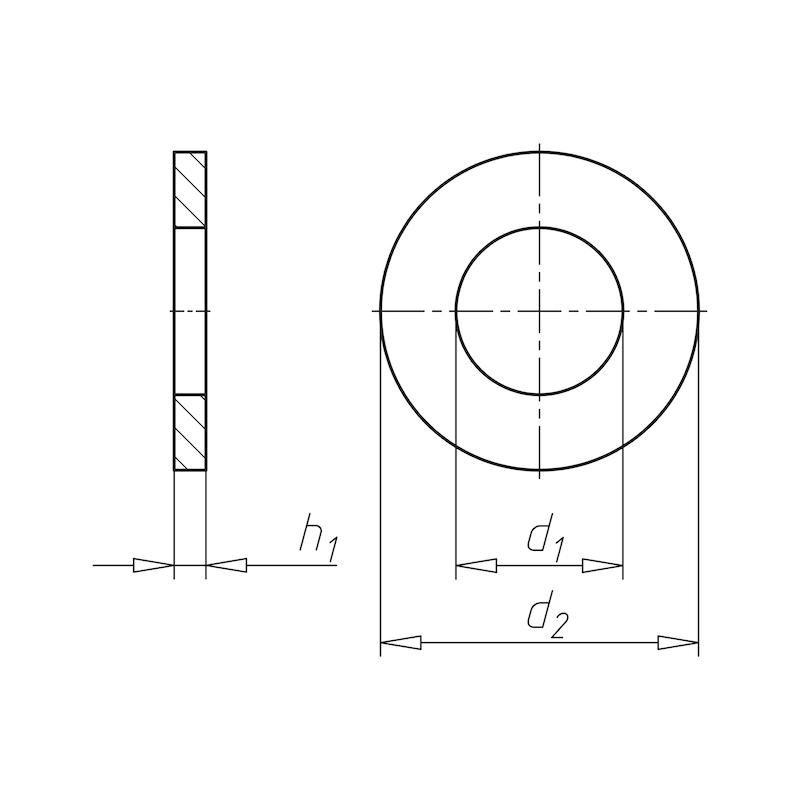 Scheibe für Schraube mit schwerer Spannhülse - 2