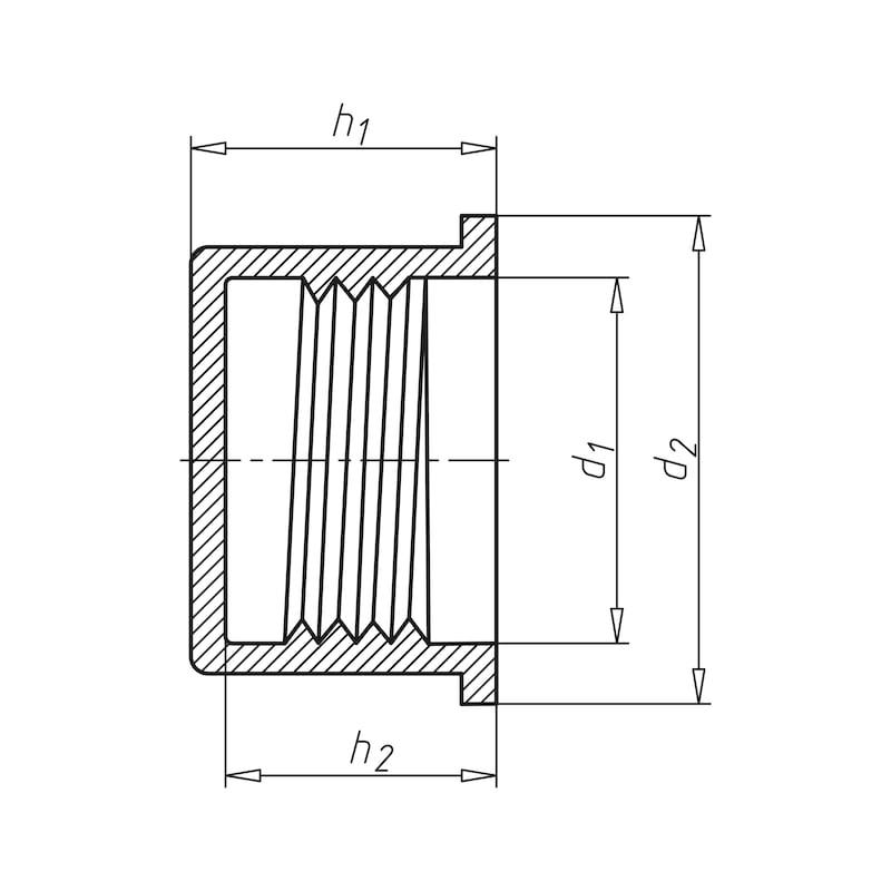 Schraubkappe WP 800, für metrische Gewinde - 2