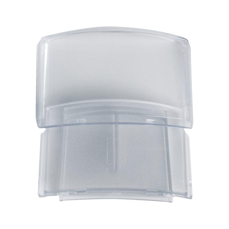 Porte-badge pour casque de protection  - 1