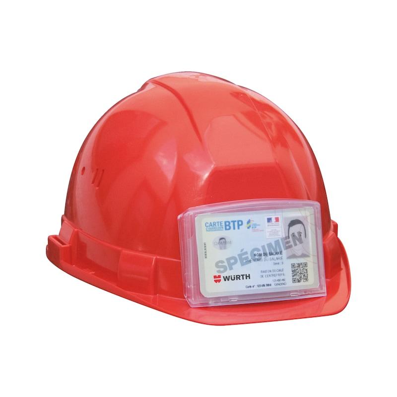 Porte-badge pour casque de protection  - 2