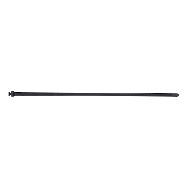 Cable tie for single-hole mounting - CBLTIE-PLA-MB-WEATHERPROOF-BLACK-7,6X376