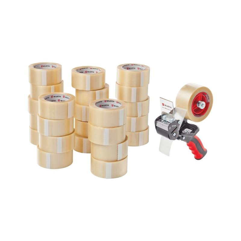 Packband-Abroller-Set - PVC-PACKBA-TRANSP-SET-25TLG