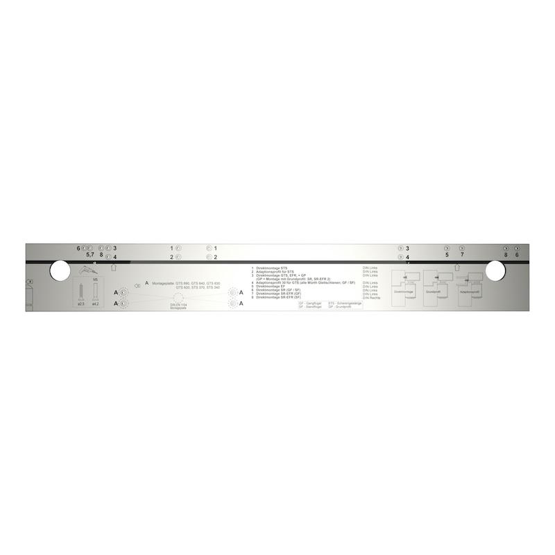 Serien-Bohrlehre für Türschliesser und Anlagen - BOLEHR-TRSHL-STS-GTS-TRSHL-ALU