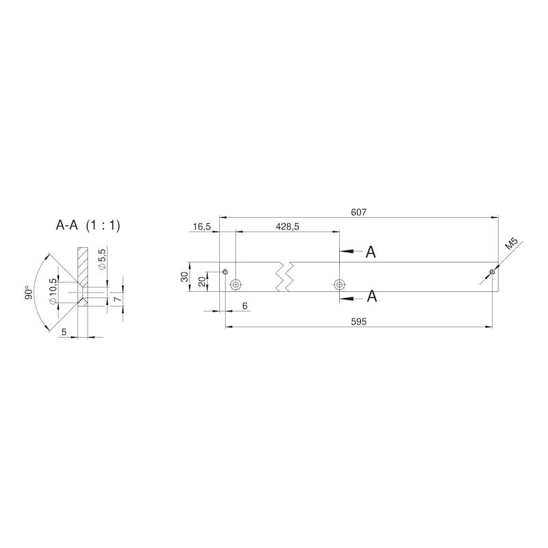 Adaptionsprofil 30 für zweiflügelige Feststellanlagen - 2