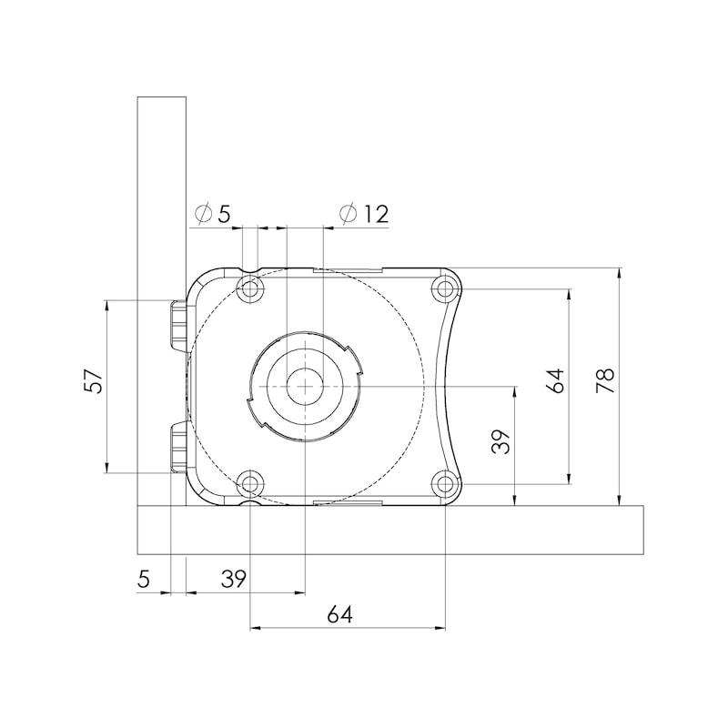 Sockelhöhenversteller Typ EV-S zum Schrauben - 3