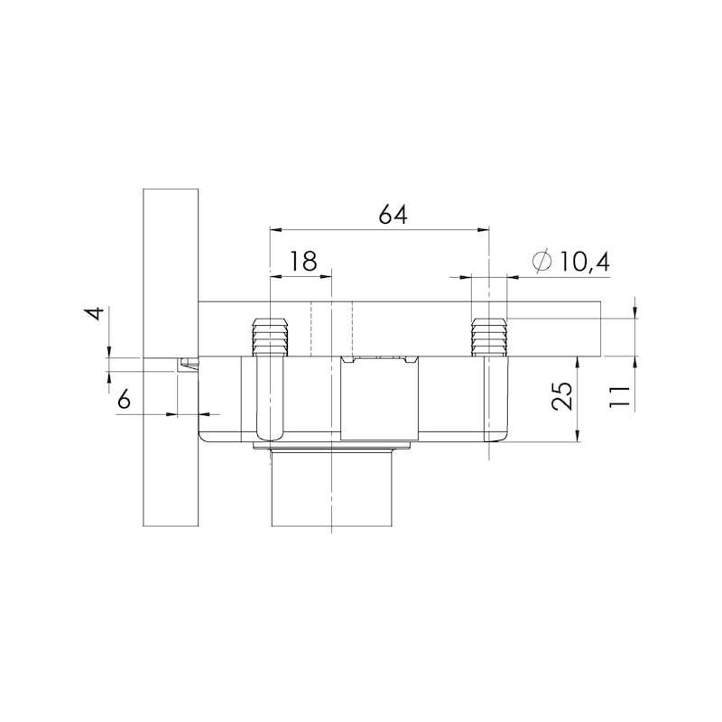 Sockelhöhenversteller Typ EV-D zum Dübeln - 2