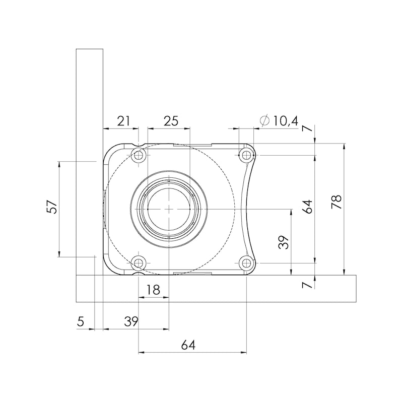 Sockelhöhenversteller Typ EV-D zum Dübeln - 3
