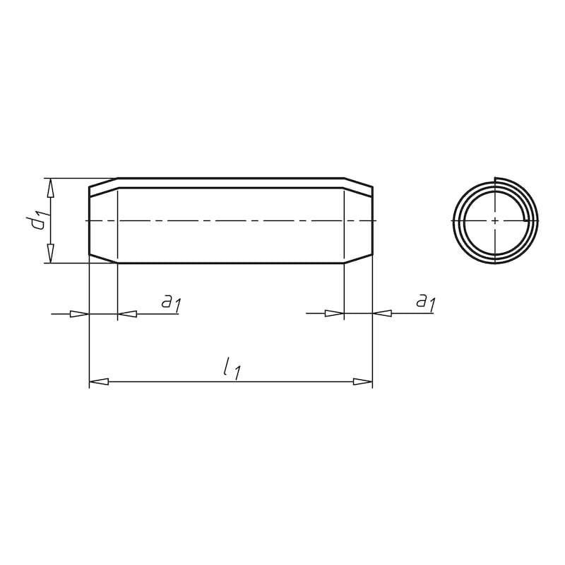Spiralspannstift, Regelausführung - SPNSTI-ISO8750-A2-6X30