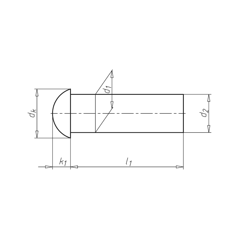 Halbrundniet - NT-DIN660-ALU-6X12