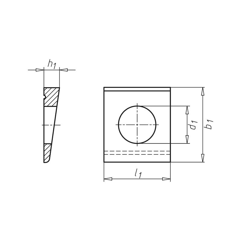 Rondella, quadra, cuneiforme per profilati a I - 2