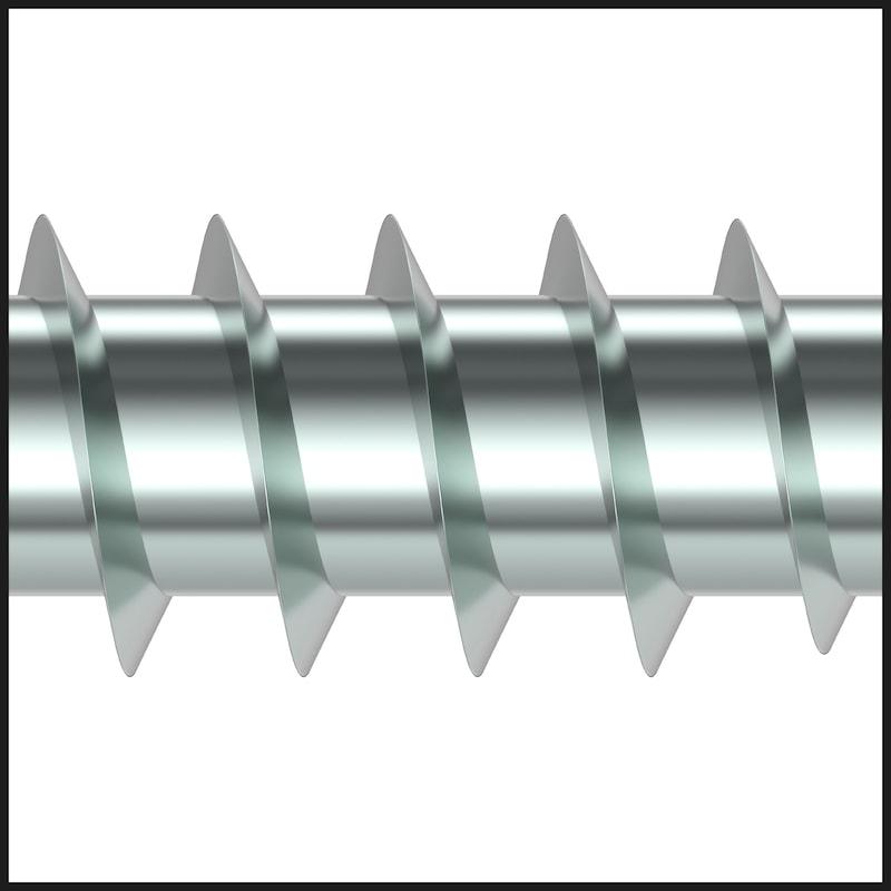 ASSY<SUP>®</SUP>plus 4 CSMP CORPUS Korpusschraube Stahl gehärtet verzinkt Teilgewinde Senkfrästaschenkopf - 6