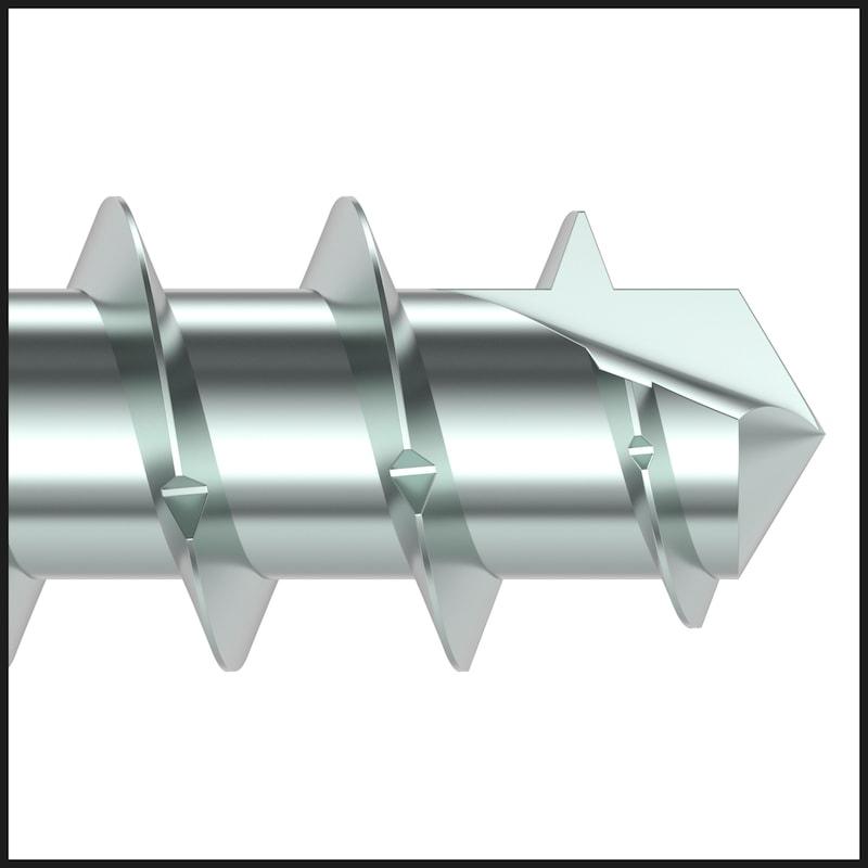 ASSY<SUP>®</SUP>plus 4 FBS RCS Fensterbauschraube Stahl gehärtet verzinkt Vollgewinde Linsensenkkopf - 7