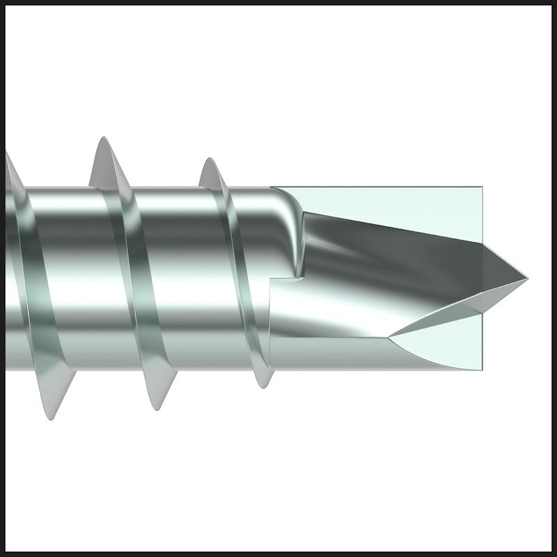 ASSY<SUP>®</SUP>plus 4 CSMP CORPUS Korpusschraube Stahl gehärtet verzinkt Teilgewinde Senkfrästaschenkopf - 7