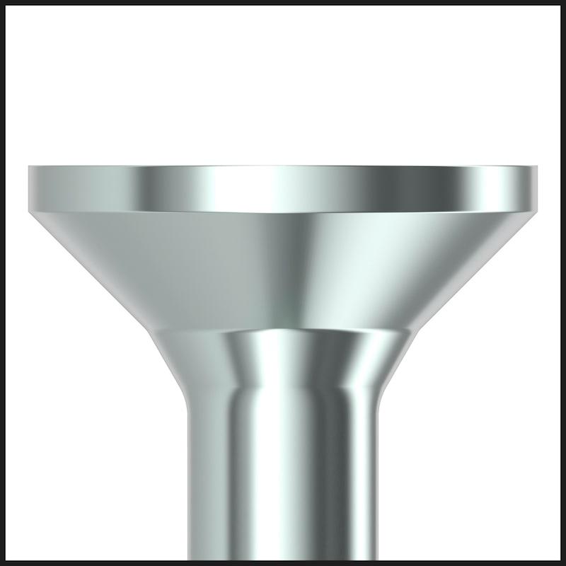 ASSY<SUP>®</SUP> 4 CS fittings screw Steel zinc plated full thread countersunk head - 8