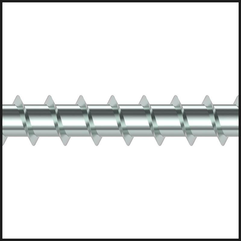 ASSY<SUP>®</SUP>plus FT 4 Combi Vite per carpenteria in legno, in acciaio zincato, filetto intero, testa esagonale - 5