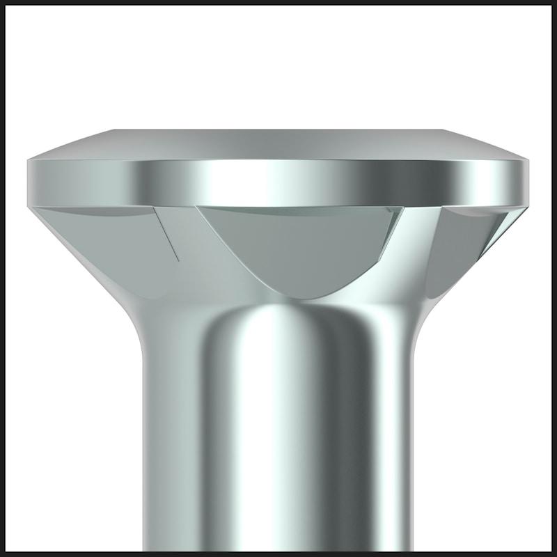 Vis pour construction de terrasses ASSY<SUP>®</SUP>plus 4 A2 SRCS SPEZIAL Acier inoxydable A2 non allié, filetage partiel, tête bombée fraisée - 7