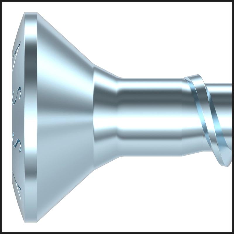 Specjalny wkręt uniwersalny ASSY<SUP>®</SUP>plus 4 CSMP Hartowana stal ocynkowana, gwint częściowy, łeb płasko stożkowy - 9