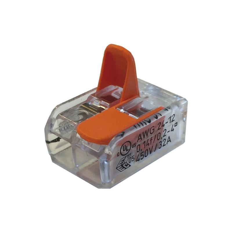 Schraublose Verbindungsklemme WAGO COMPACT - STEVERB-KLEMME-HEBEL-2LEITERN-4QMM