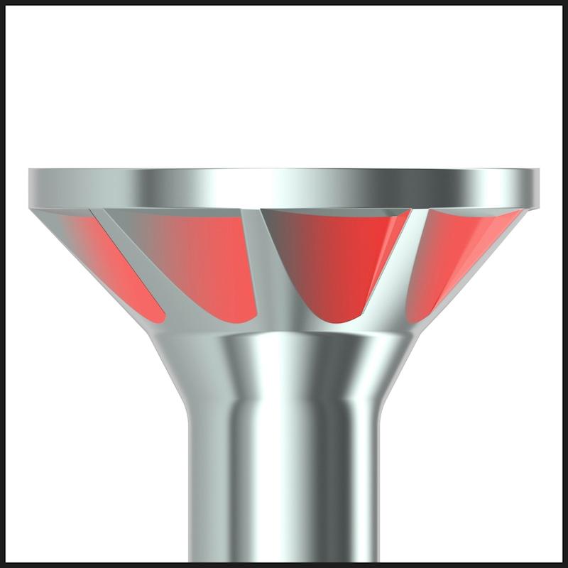 ASSY<SUP>®</SUP>plus 4 CSMP Universalschraube magaziniert Stahl gehärtet verzinkt Teilgewinde Senkfrästaschenkopf - 4