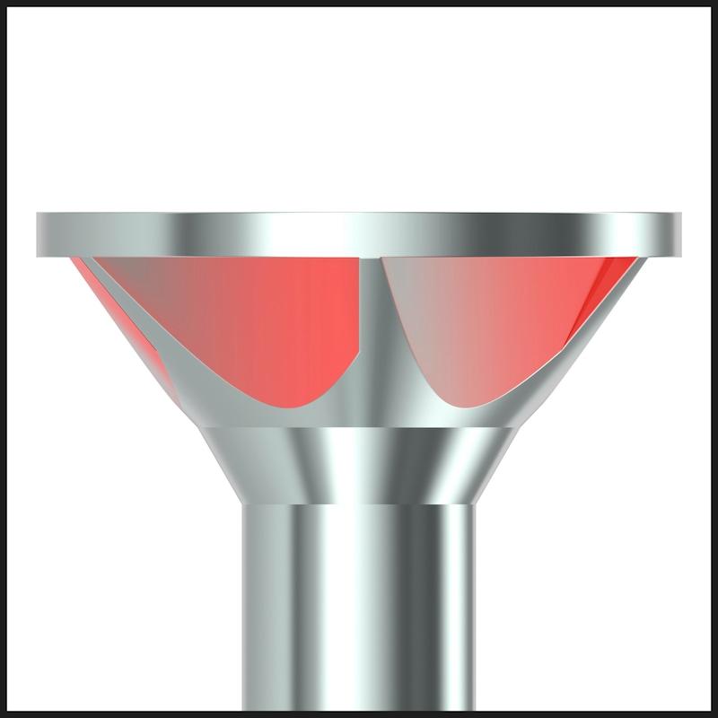 ASSY<SUP>®</SUP>plus 4 CSMP corpus Korpusschraube Stahl gehärtet verzinkt Teilgewinde Senkkopf - SHR-SEKPF-FRT-BSP-RW20-(A2K)-4X50/31