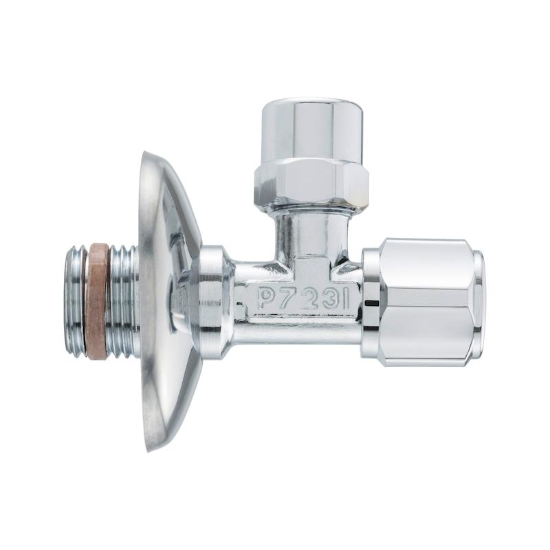 "Válvula de corte angular DIN 1/2"", autovedante - 2"