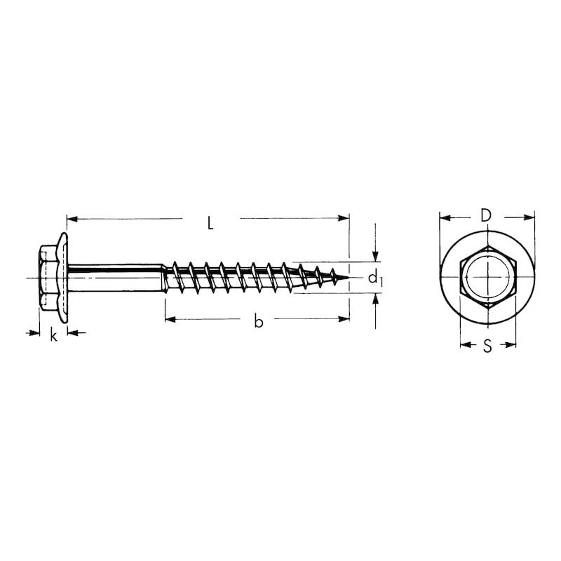 Vite per legno  - VITE-LEGNO-TE-C/COLLARE-(A2K)-6X50