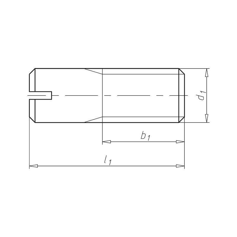 DIN 427, bez p.ú. A4 - SKRUTKA BEZHL DIN427 A4 SL M8X16