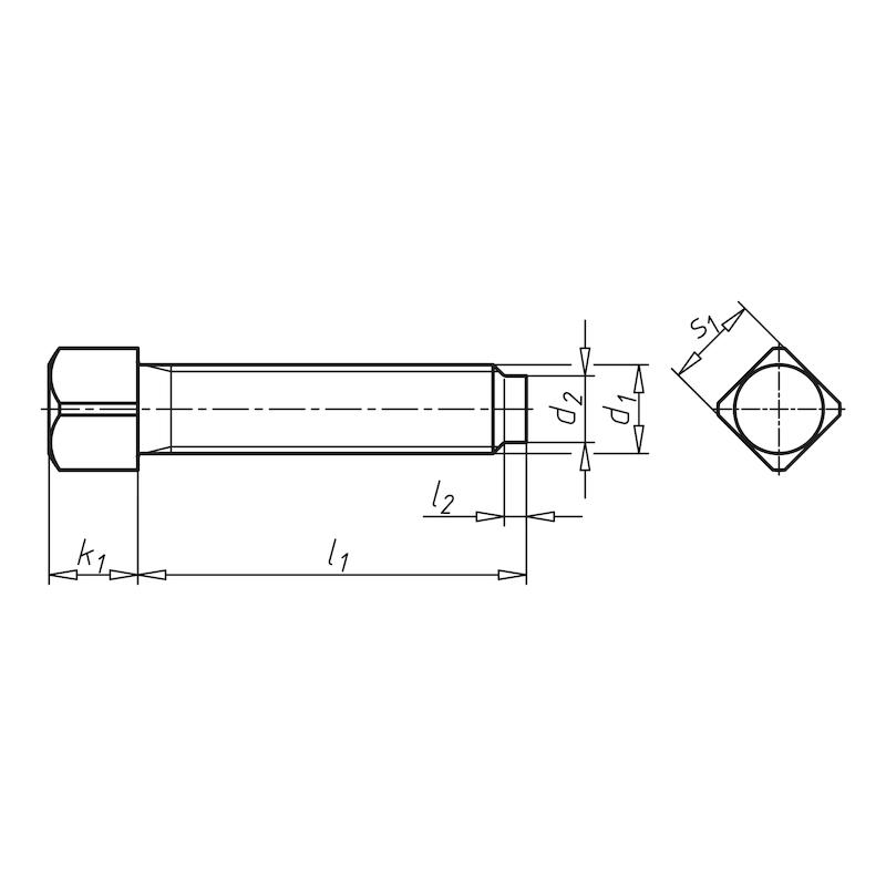 Vierkantschraube mit kurzem Zapfen - SHR-4KT-KRNANSZ-DIN479-08.8-SW10-M10X40