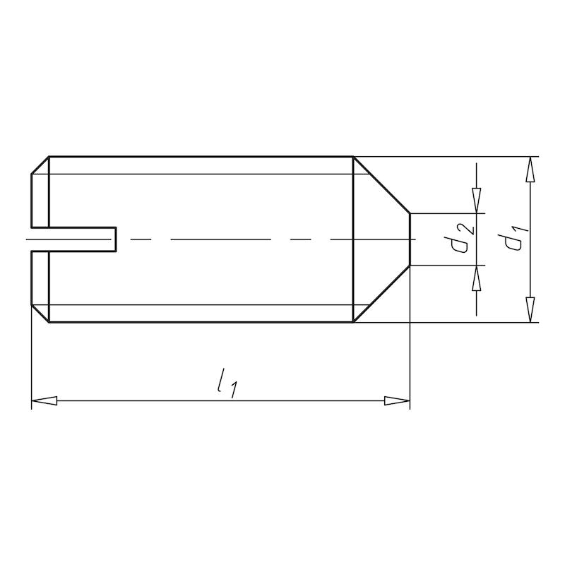 Gewindestift mit Schlitz und Spitze - STI-SP-DIN553-A1-SZ-M6X10