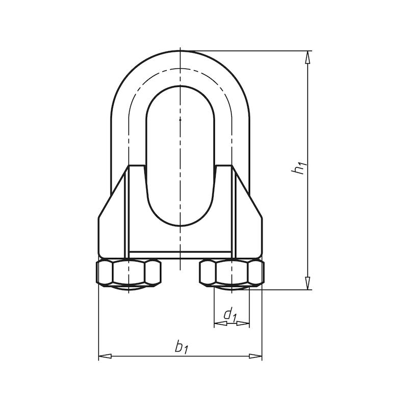 Morsetto per fune - MORSETTI-DIN741-ZNB-D1/8-3,0