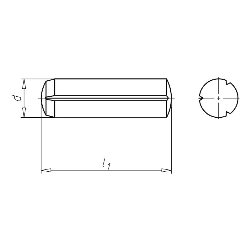 Zylinderkerbstift mit Fase - 2